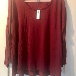 Old Navy burgundy long sleeve shirt.